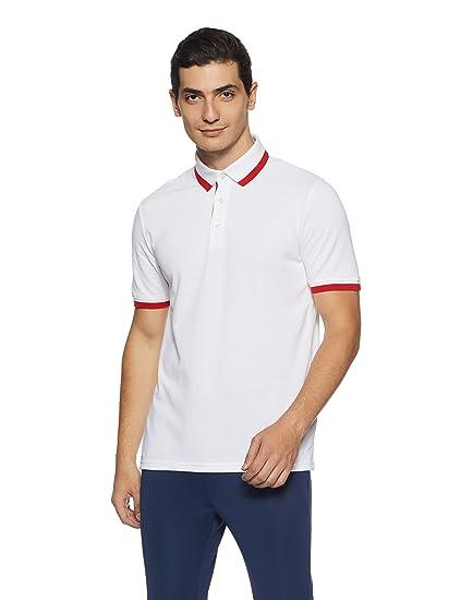 Puma Mens ESS Pique Red Tipping Polo T-Shirt (Small)