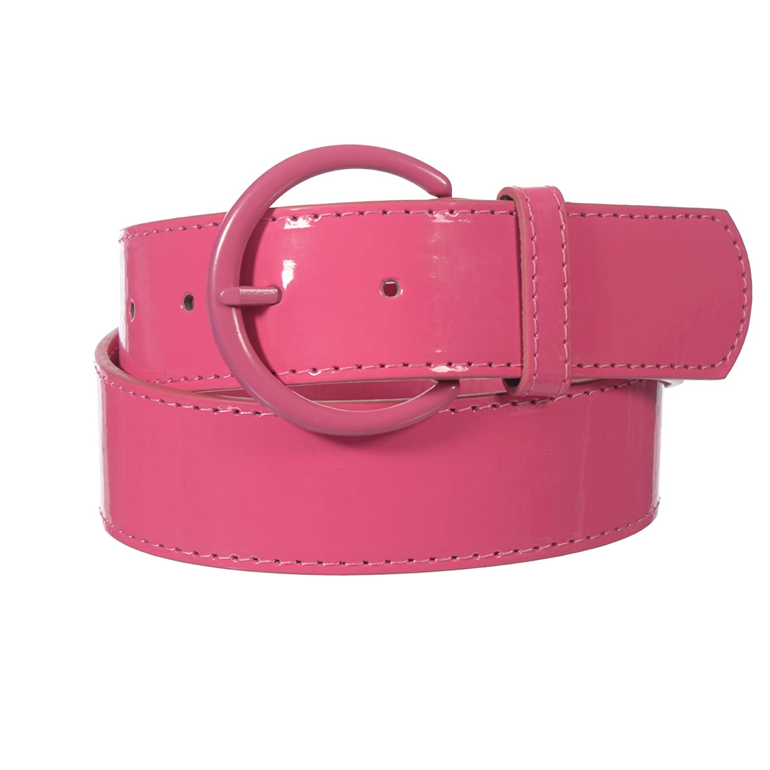 Xcessoire Girls 1.5 Solid Color PU Belt with Circle Buckle LANG_B17641A