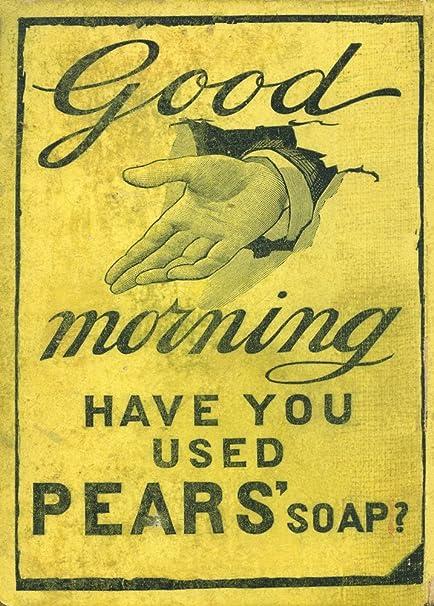 Vintage barbería y salón peras jabón. Buenos días. ¿Se ha ...