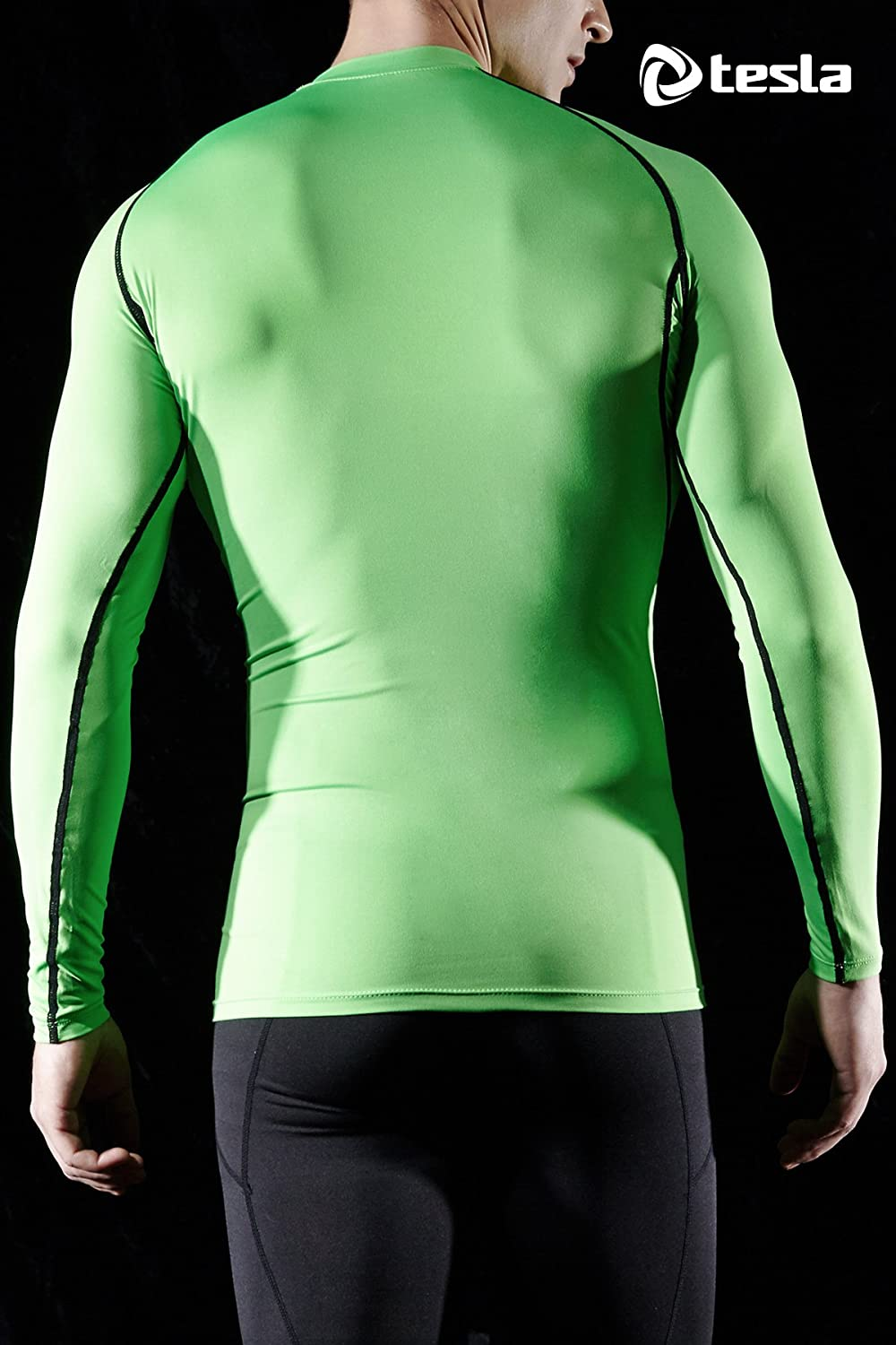 TSLA Mens Cool Dry Fit Long Sleeve Compression Shirts Sports Base Layer T-Shirt Athletic Workout Shirt