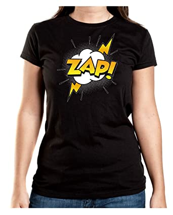 Certified Freak Zap Comic T-Shirt Girls Black S