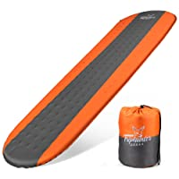 Self Inflating Sleeping Pad Lightweight - Compact Foam Padding Waterproof Inflatable Mat - Best for Camping Hiking Backpacking - Thick 1.5 Inch for Comfortable Sleep - Insulated Camping Mattress