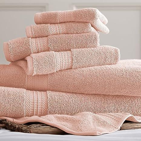Lujo Spa 100% algodón colección juego de 6 juego de toallas | incluye – 2
