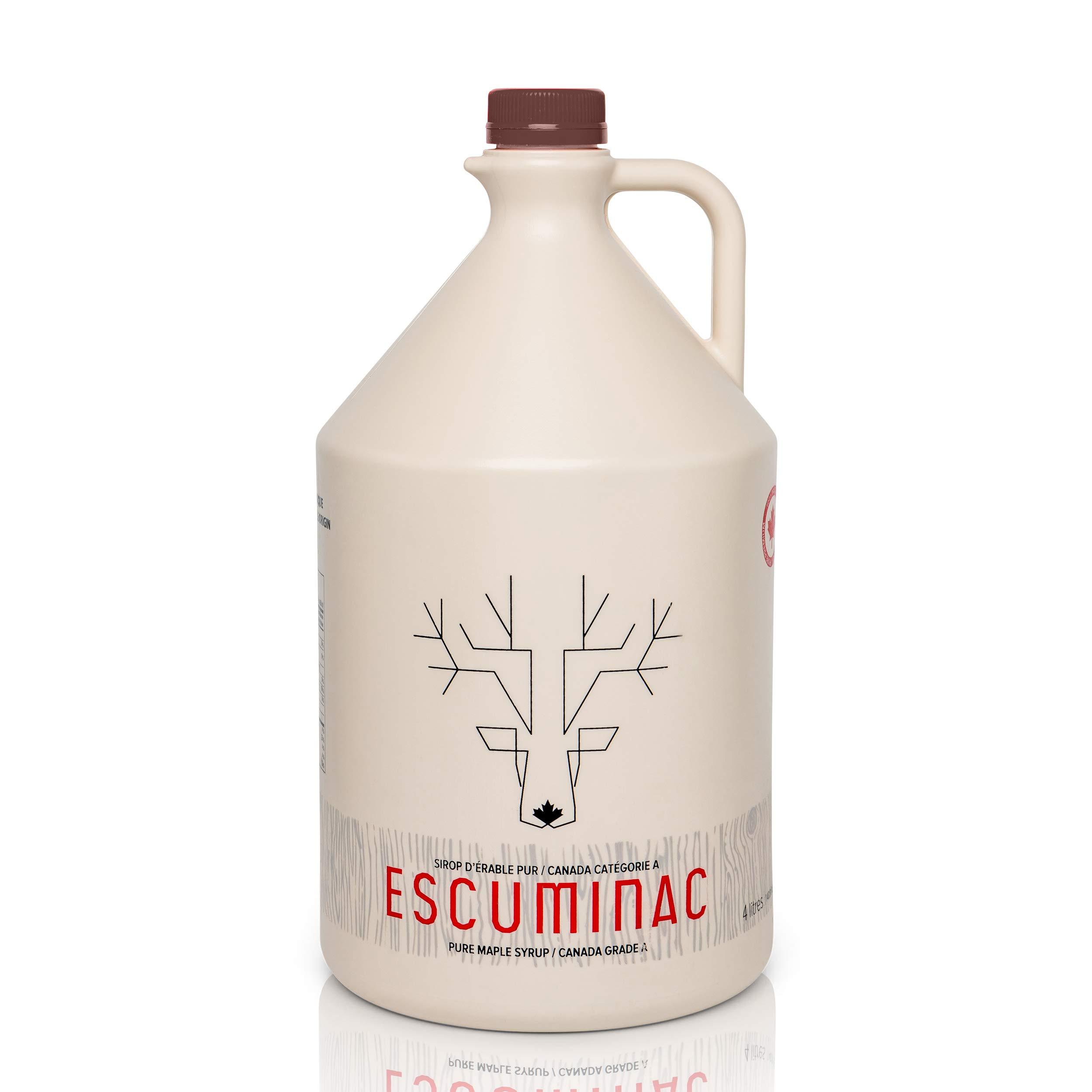 Award Winning Escuminac Late Harvest Canadian Maple Syrup. Restaurant, Chef Size 4L (135 fl oz) Canada Grade A Dark Robust Taste - Pure, Organic, Single Origin, Unblended. by Escuminac