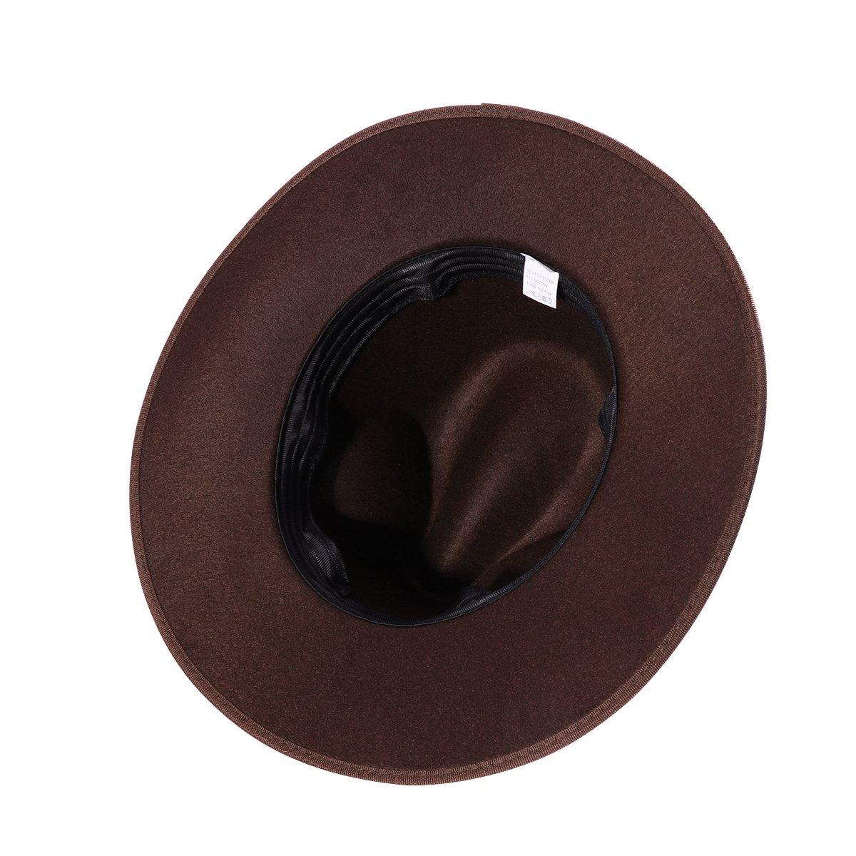 LUOEM Sombrero de Jazz de Ala Ancha Gorro de Playa de Sol Modelo para  Hombre Mujer (Café)  Amazon.es  Ropa y accesorios bc7982a293d