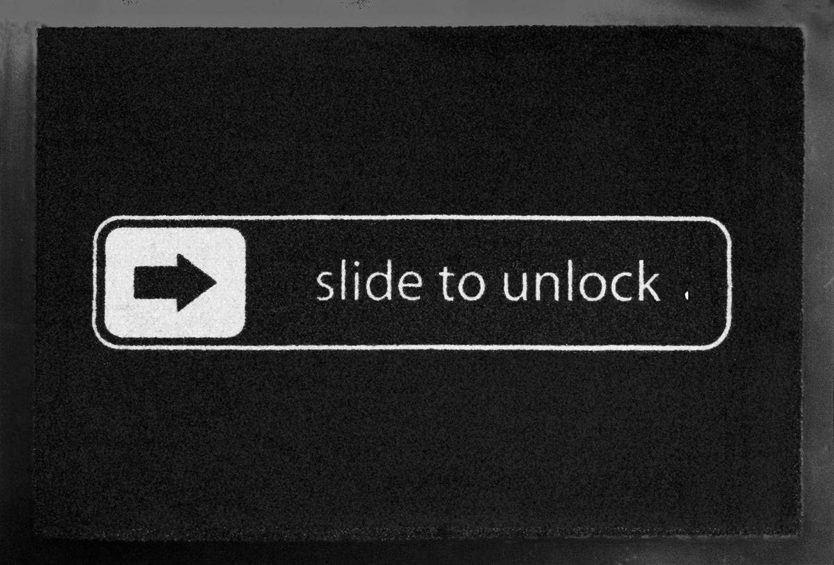 Merchandiseonline Slide To Unlock – Door Floor Mat Size 24 x 16 Doormat