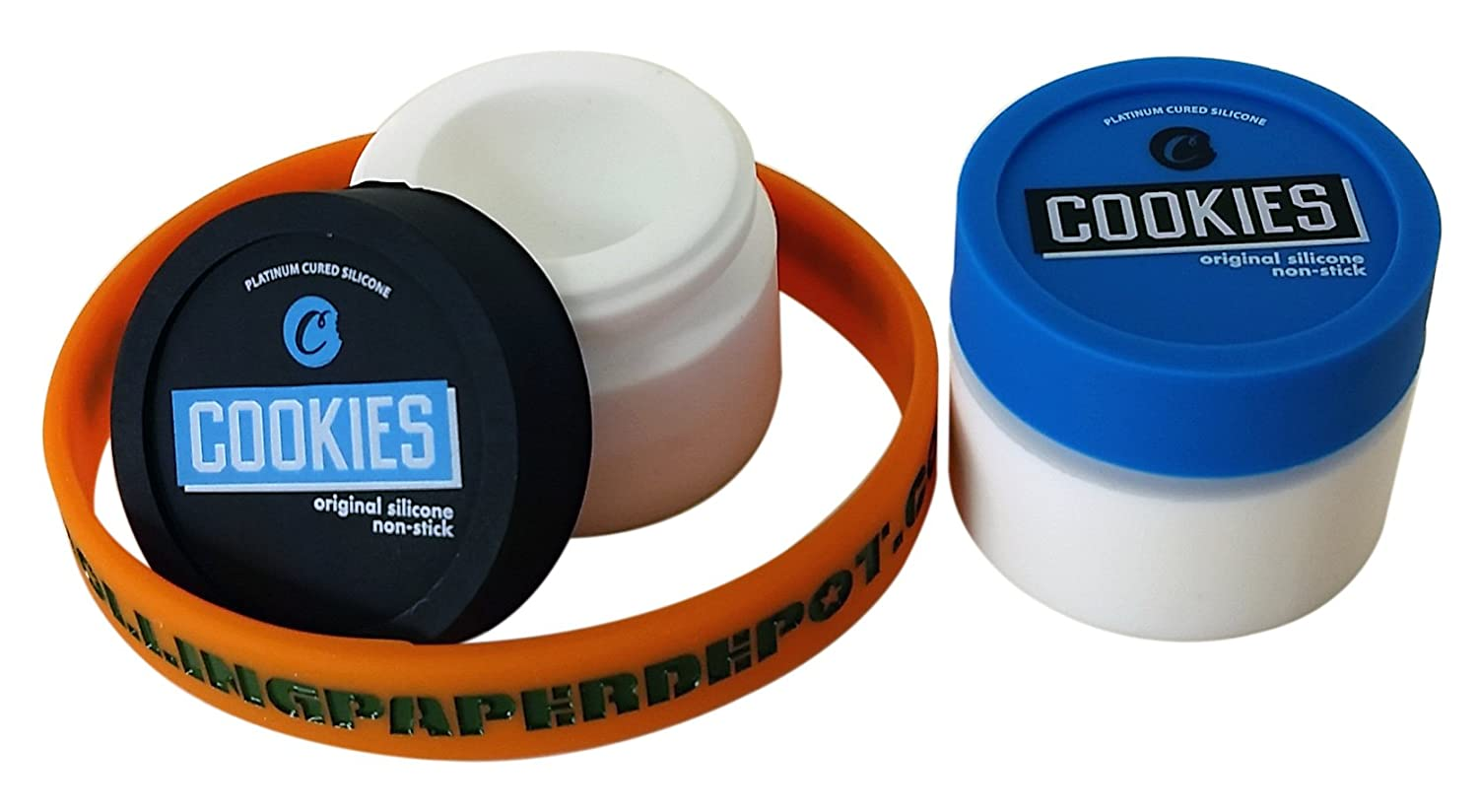 Cookies Silicone Container - 2 Pieces with RPD Bracelet
