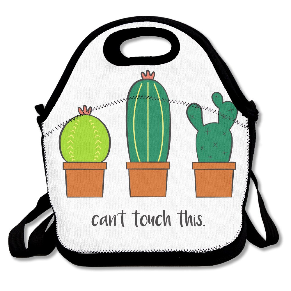 cheap Custom Colored Cacti Can't Touch This Reusable Ziplock Crossbody Picnic Bag Design For Office Portable Lunch Box Cooler Back To School Lunch Bag Lunch Tote Bag Box For Boys Girls