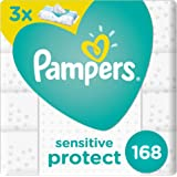 Pampers Sensitive Baby Wipes, 2+1, 168 Count