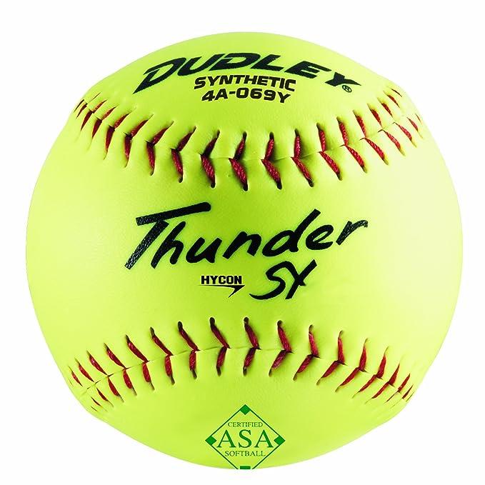 Dudley ASA Thunder Hycon Slow Pitch - Pelota sintética (Talla 12 ...