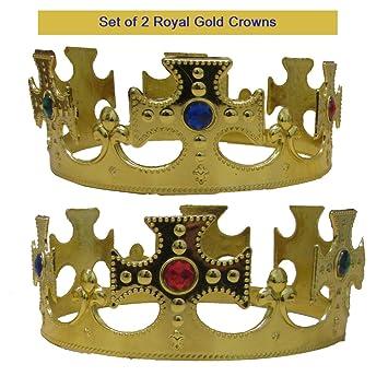 Toy Cubby Conjunto de Corona de Reyes Reales de 2 Coronas ...