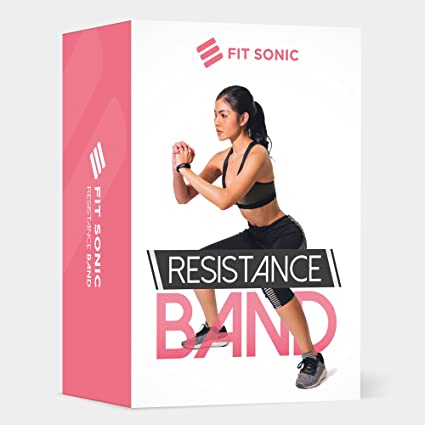 Amazon Com Fit Sonic Usa Hip Resistance Band Booty Band For