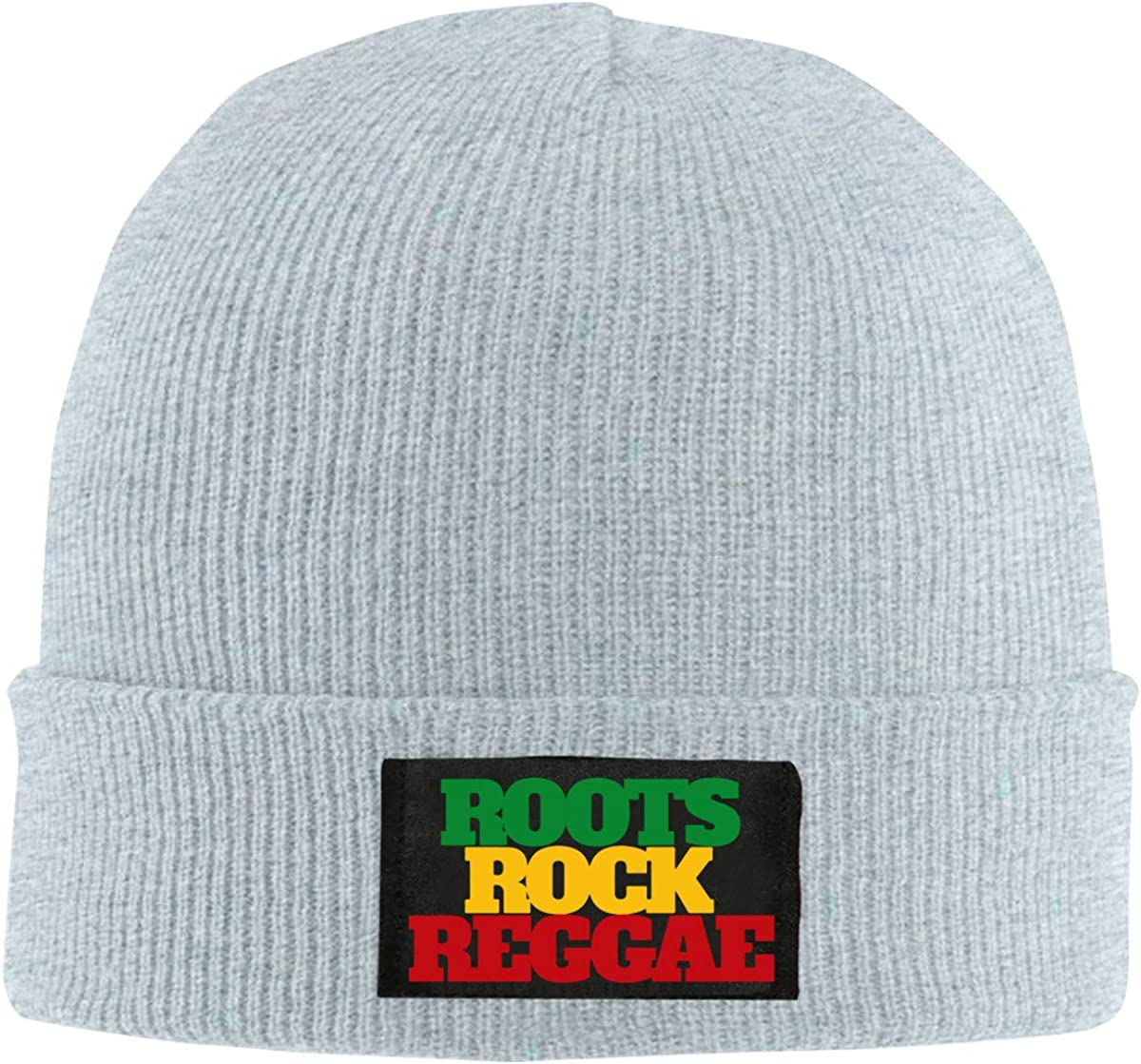 Roots Rock Reggae Rasta Women and Men Knitted Hat Comfortable Pure Color Hat