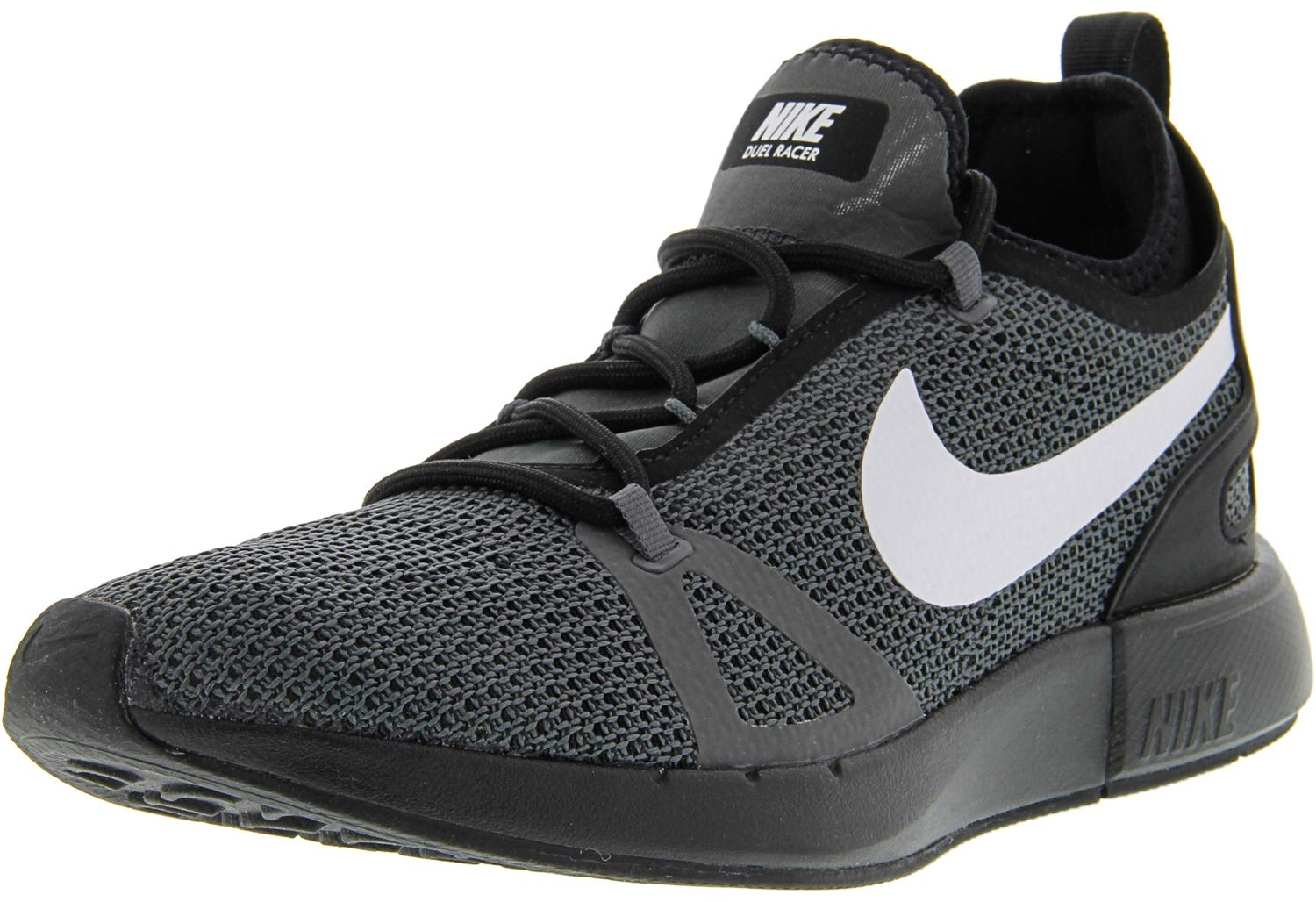 low priced a31bd 0b445 Galleon - Nike Women s Duel Racer Black White Dark Grey Ankle-High Running  Shoe - 9M