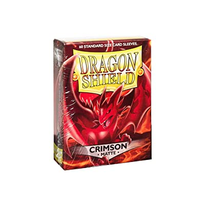 Arcane Tinman Sleeves: Dragon Shield Matte Crimson (Red) (60), One Size: Toys & Games