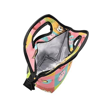Ahomy - Bolsa de almuerzo para pájaros, diseño de búhos, con cremallera, para picnic, escuela, oficina, etc.: Amazon.es: Hogar