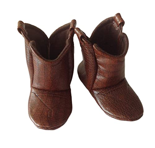Brown Leather Baby Cowboy Boots: Handmade