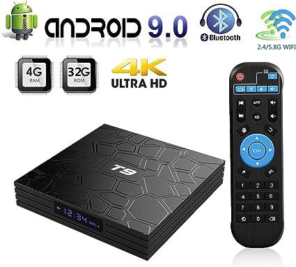 Android 9.0 T9 4GB+64GB TV BOX Quad Core RK3328 5.0G WiFi 4K UHD 3D Media Player