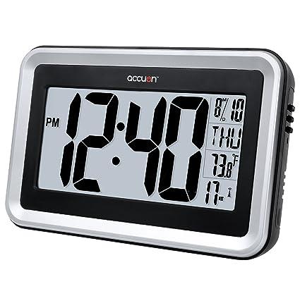 Accuon grande Atomic pieza de repuesto para cierre automático Digital reloj de pared con temperatura interior