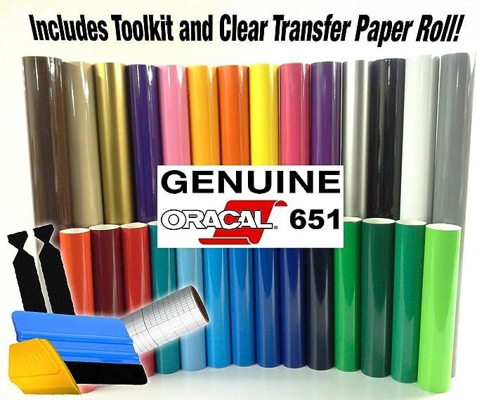 ORACAL 651 - Kit de iniciación de papel de vinilo en varios colores para vinilo Cricut, Silhouette CameoHerramienta de instalación 3M.: Amazon.es: Juguetes y juegos