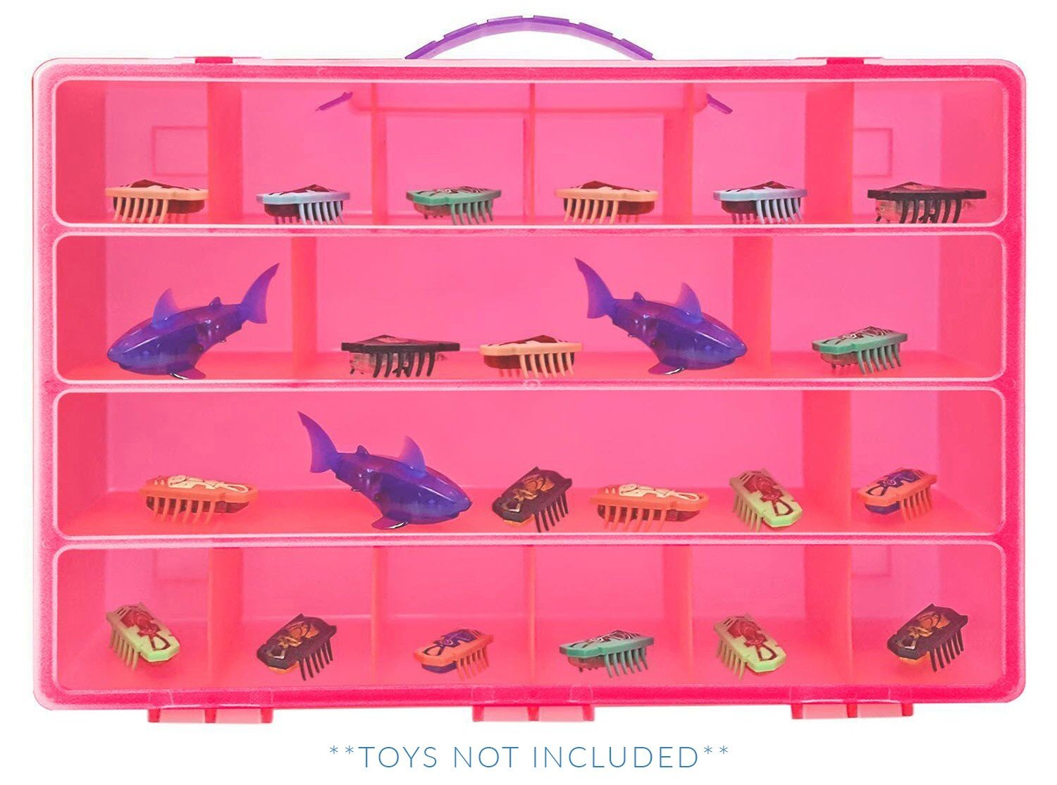 Hexbug Nano Case, Toy Storage Carrying Box. Figures Playset Organizer. Accessories For Kids by LMB