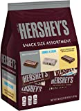 HERSHEY'S Chocolate Candy Snack Size Assortment (Milk Chocolate, with Almonds, Cookies n' Crème) 33 Ounce Bulk Candy