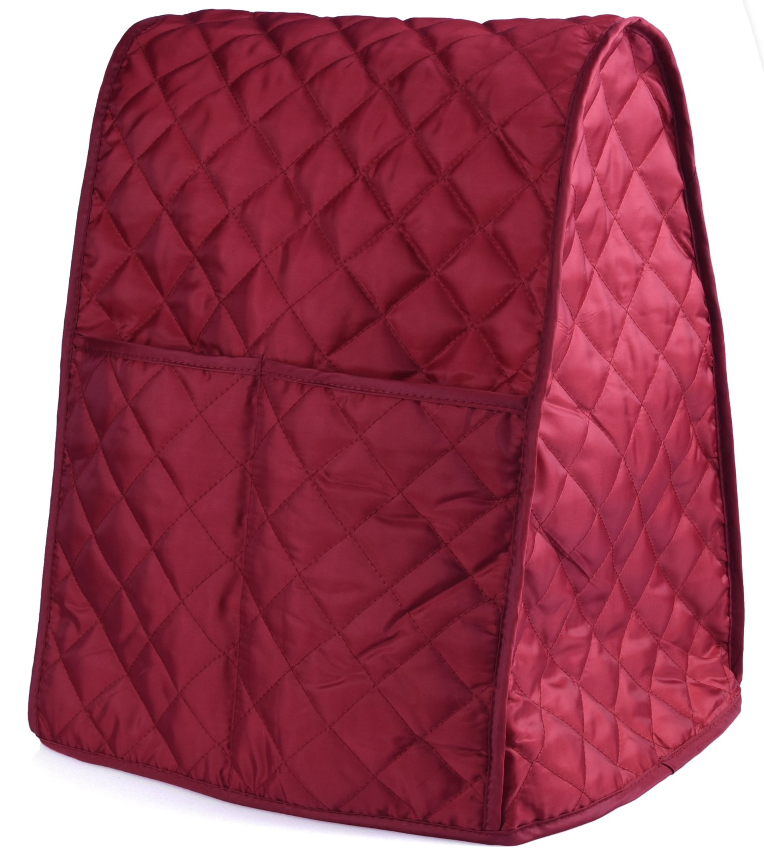 Stand Mixer Cover Dust-proof with Organizer Bag for Kitchen Mixer (Dark Red)