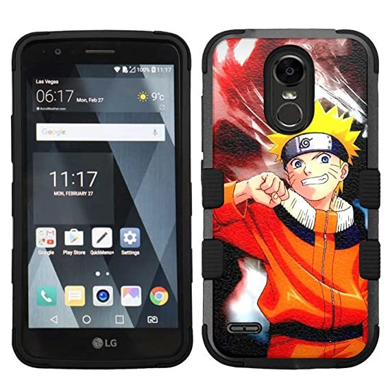 new style 26ea9 db01f Amazon.com: for LG G Stylo 3 (LS777), Hard+Rubber Dual Layer Hybrid ...