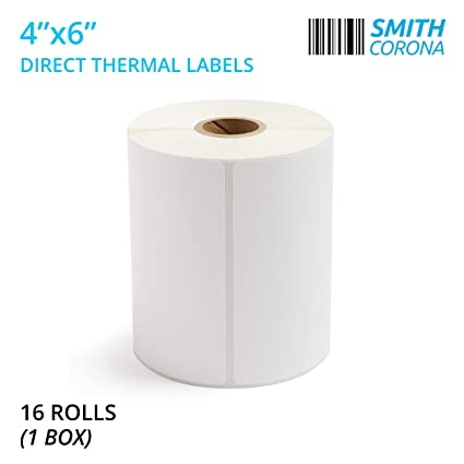 smith corona 4x6 direct thermal labels 16 rolls with 250 labelsroll 1
