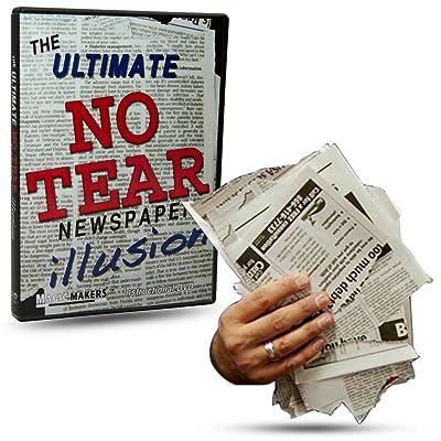 Magic Makers The Ultimate NO Tear Newspaper Illusion Magic Training - Packs Flat Plays Big!: Toys & Games [5Bkhe0202347]