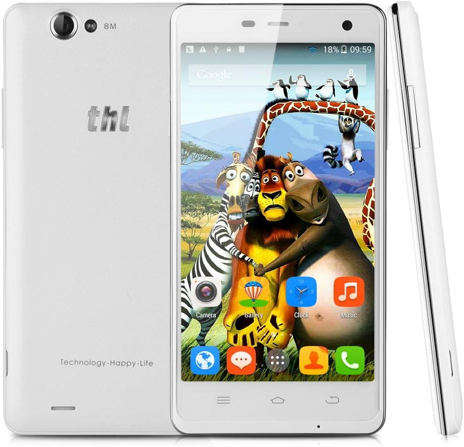 THL 4400 - Smartphone Movil 3G Libre (Android 4.2.2, Quad Core, Dual SIM,Pantalla 5.0