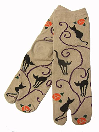Amazon.com: Japón Ninja 2toe calcetines 30612405 Blak Cat ...
