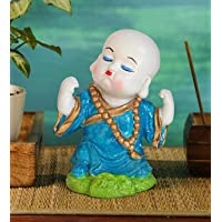 TIED RIBBONS Resin Buddha Monk Figurines Showpiece for Home, Office Decoration