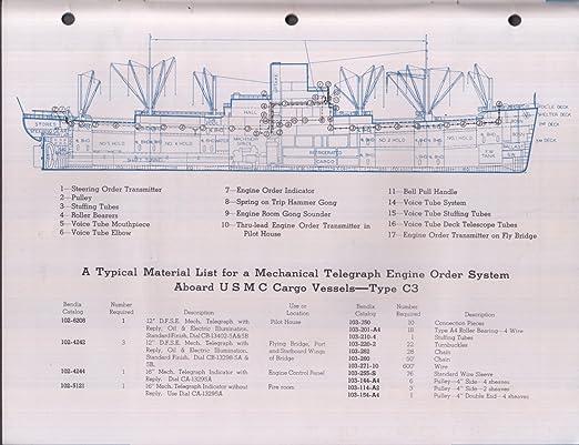 Bendix-Marine Mechanical Telepgraphs Gong & Voice Tube ...