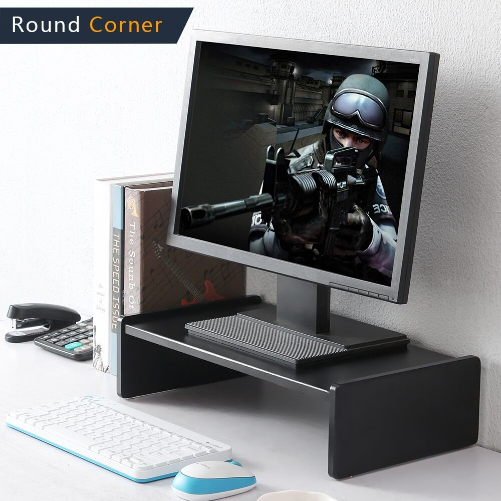 TAVR Computer Monitor Riser Two Tiers Shelves Monitor Stand 16.7 x 9.4 inch Save Space Desktop Stand CM1002 TAVR Furniture RLCM1002