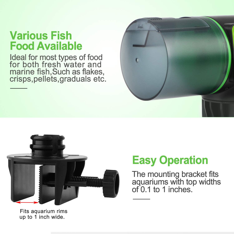 Torlam Auto Fish Feeder, Moisture-Proof Electric Auto Fish Feeder,Aquarium Tank Timer Feeder Vacation &Weekend 2 Fish Food Dispenser by Torlam (Image #4)