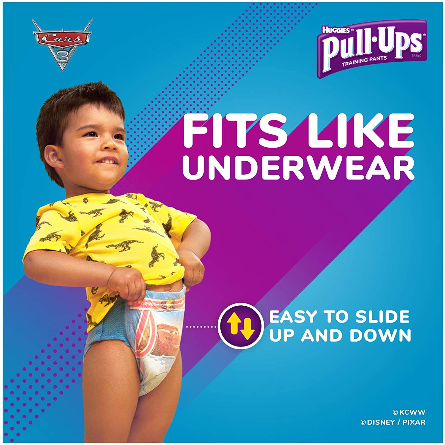 One Month Supply 124 Ct Size 2T-3T 18-34 lb. Pull-Ups Learning Designs Potty Training Pants for Boys Packaging May Vary