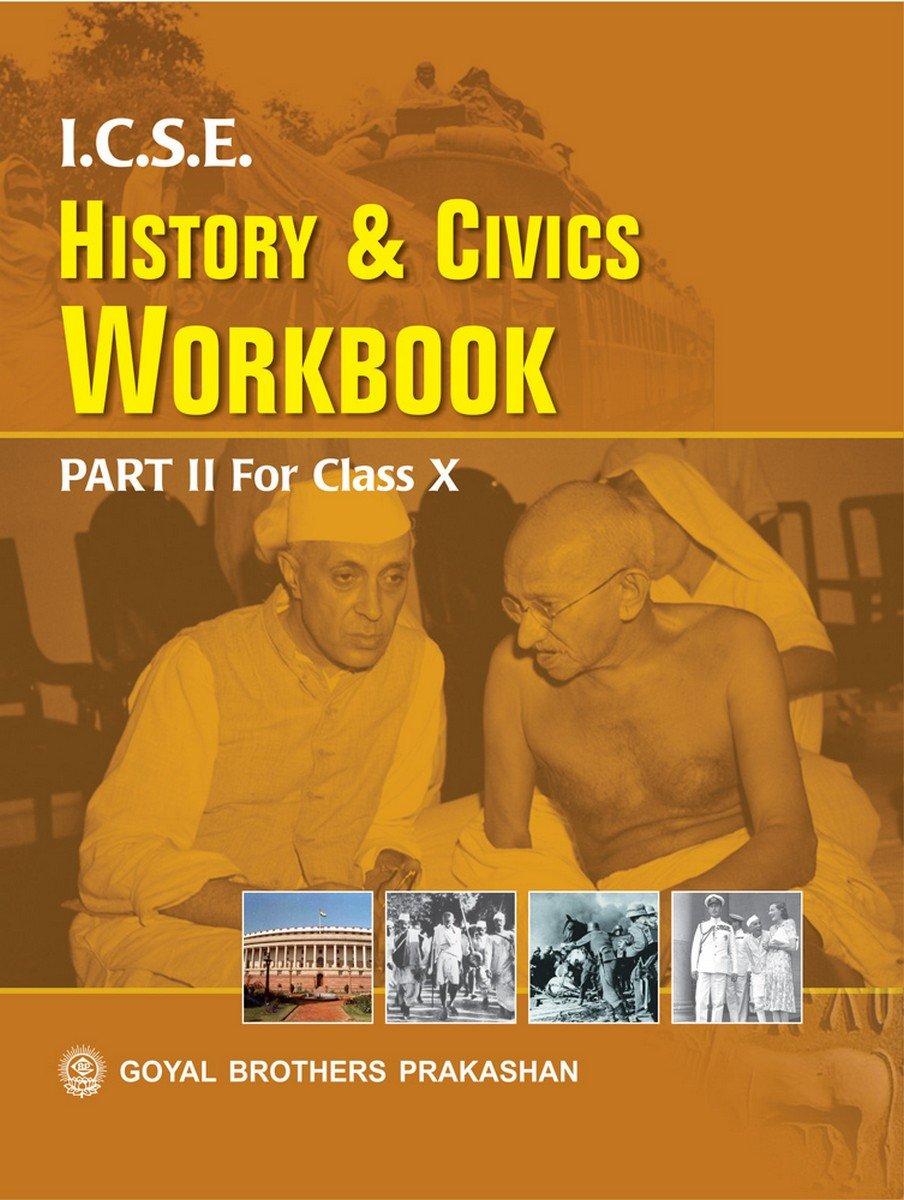 amazon in buy icse history civics workbook part 2 for class x