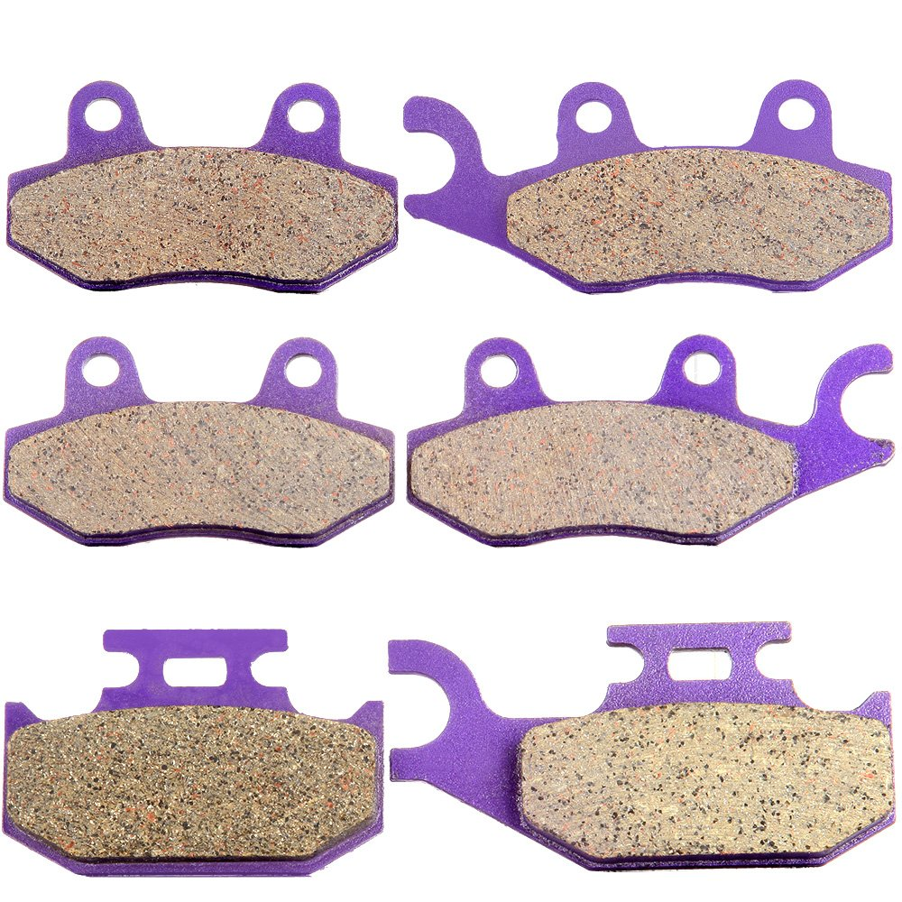 ECCPP Front and Rear Kevlar carbon Brake Pads For YAMAHA Rhino 660 YXR660 2004-2007 2005 2006
