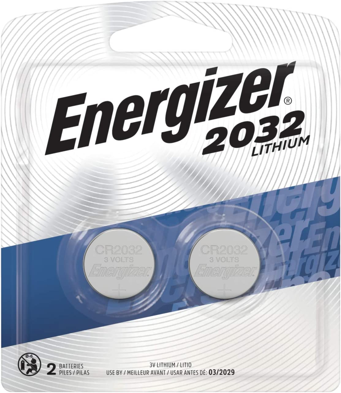 Energizer Watch/Electronic Battery (2032), 3 Volt, 2 ct