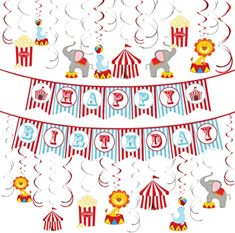 shower Circus Whirl Ceiling Danglers for party decorations or special occasion
