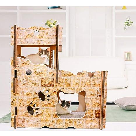 Casa De Gato Corrugado Muebles para Gatos Nido De Gato Bricolaje Tablero del Rasguño del Gato