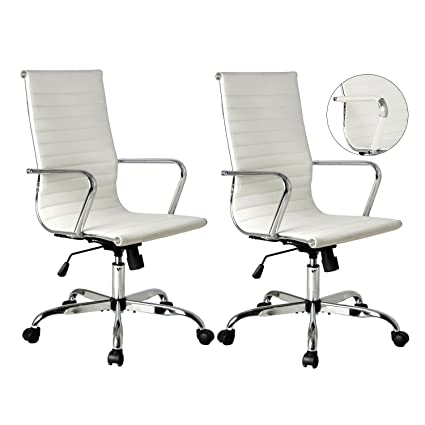 Amazon Com Puluomis High Back Ribbed Executive Conference Chair