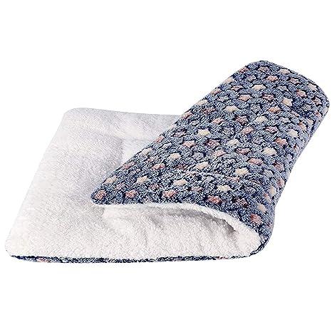 Manta de perro para perro y gato, Estrellas Manta suave de lujo para sofá, coche, jaula, casa (L: 70x55cm, Azul oscuro)