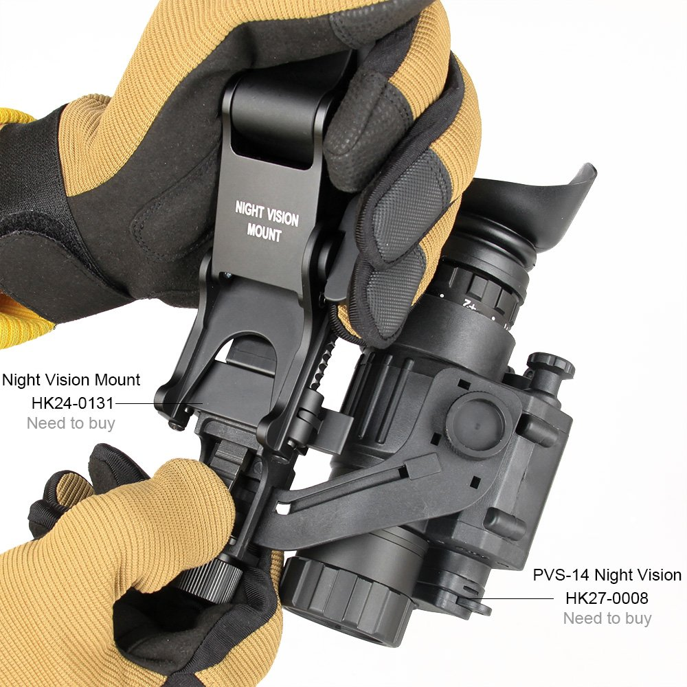 Canis Latrans Night Vision Goggles (NVG) Rhino Mount for PSV-7 PSV-14 Full Metal Tactical Helmet Mount(Tan) by CANIS LATRANS (Image #4)