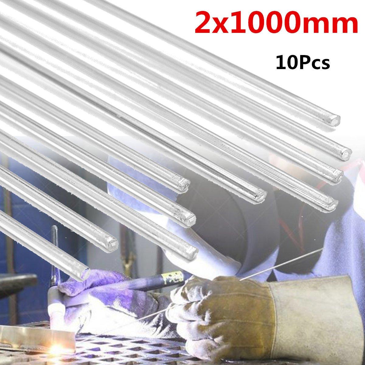 10Pcs 2x1000mm Low Temperature Aluminum Repair Welding Brazing Soldering Rods