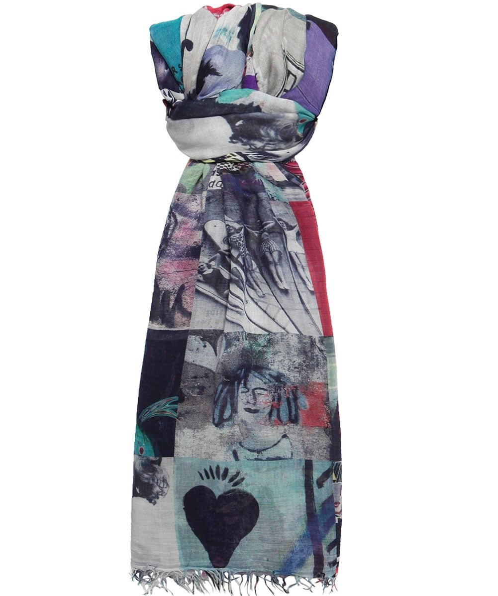 Suzi Roher Women's Silk Christina Scarf I LOVE SUNDAYS One Size