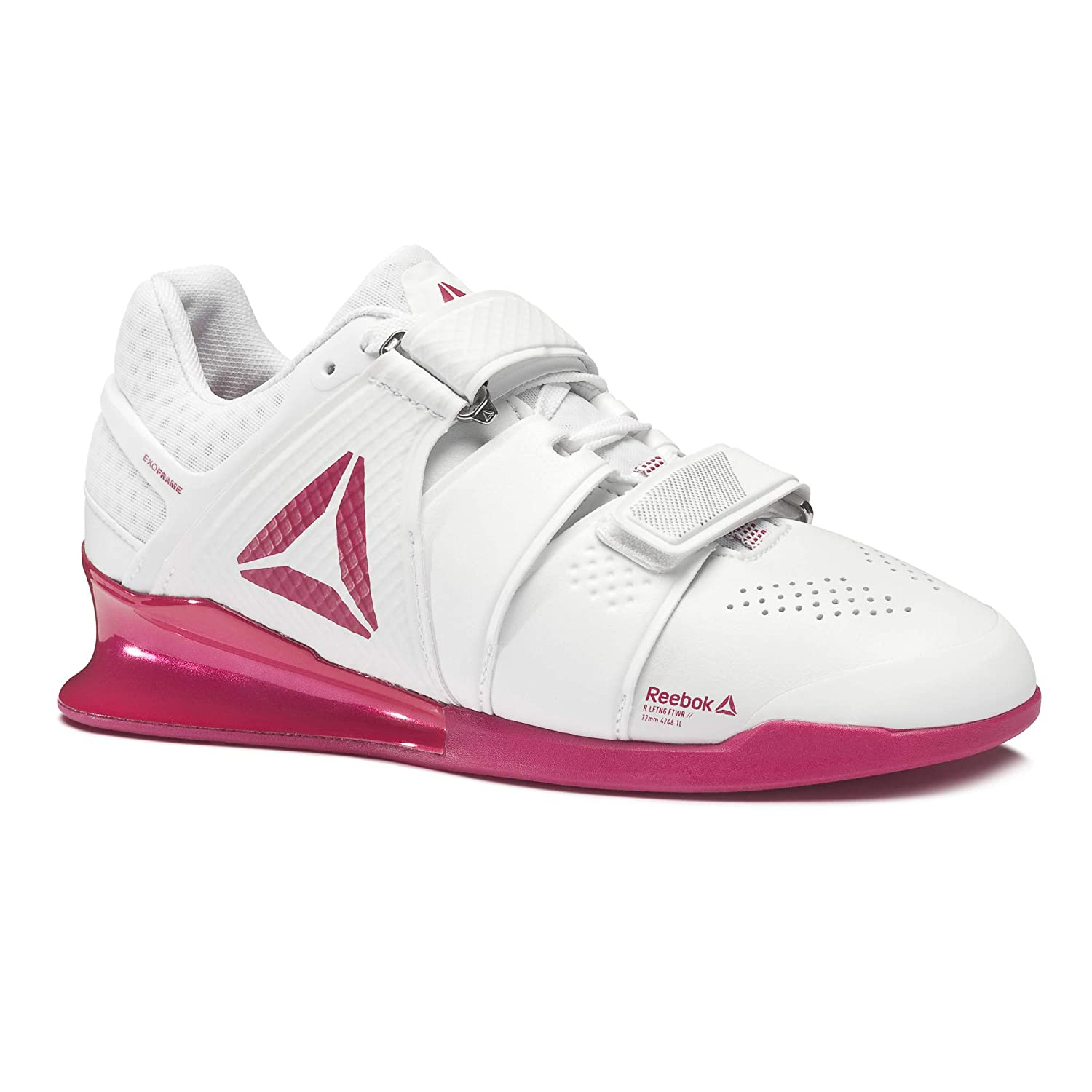 803b535df21 Reebok womens legacy lifter training shoes us white rugged rose silver  fitness cross training jpg 1500x1500