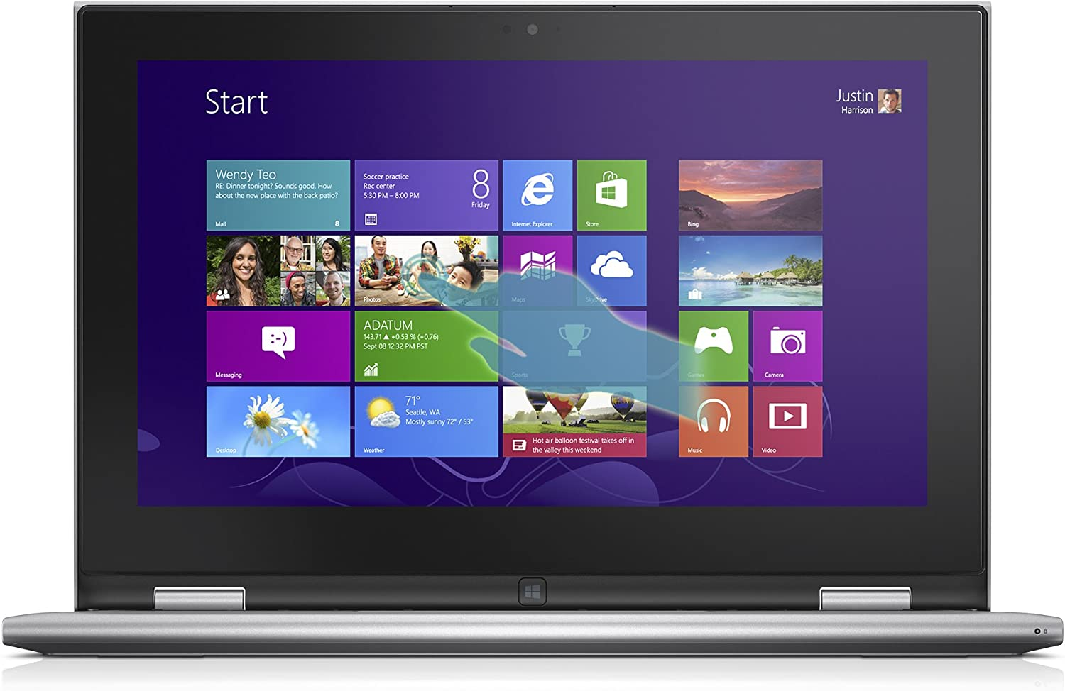 """Dell Inspiron 11 i3147 – 3750slv 11.6"""" 2-In-1 Convertible Laptop - Intel Pentium Quad-Core N3530 Processor 2.16Ghz - 4GB 500GB - Touch Screen - Win 8.1 [Discontinued By Manufacturer]"""