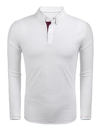 2020 größte Auswahl von 2019 Niedriger Verkaufspreis Burlady Herren Poloshirt Langarm Knopfleiste Basic Regulare Fit Polohemd  für Männer